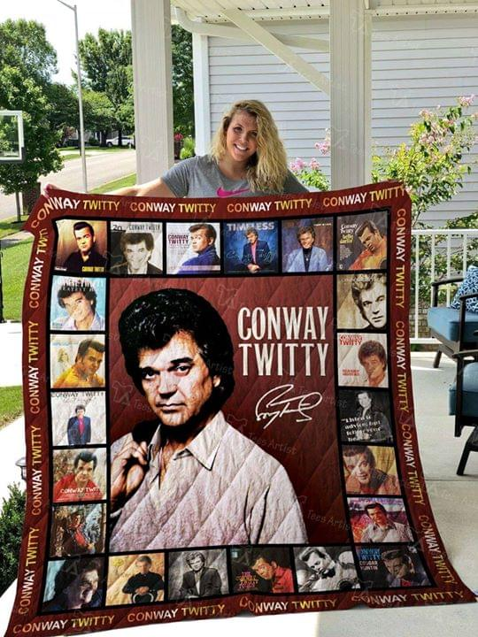 Conway Twitty Legend Signed For Fan quilt blanket