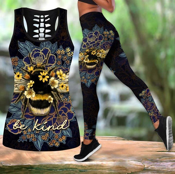 Bee Be Kind Sunflower 3d Print Tanktop Legging cotton t-shirt Hoodie Mug