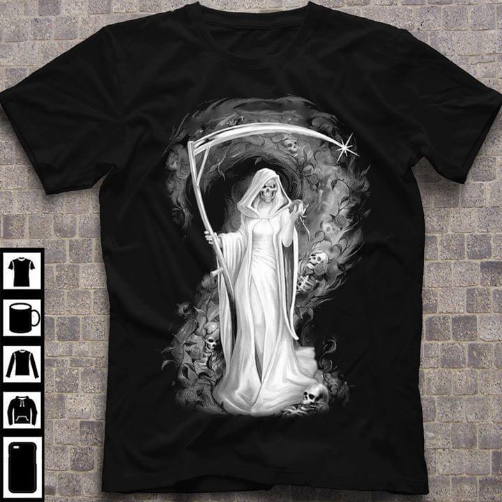 White Death God Skulls For Lovers cotton t-shirt Hoodie Mug