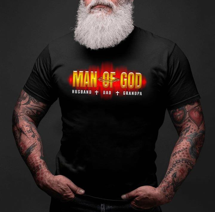 Man Of God Husband Dad Grandpa Family Gifts cotton t-shirt Hoodie Mug