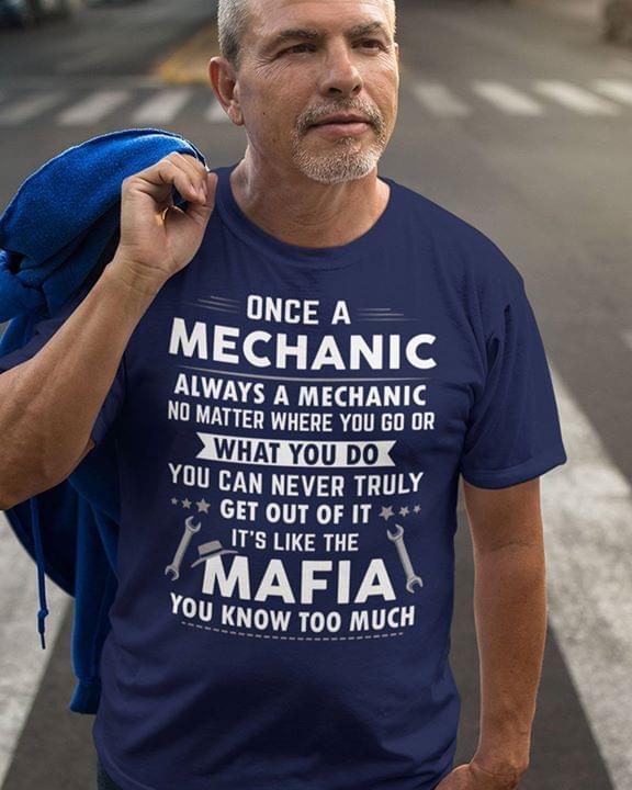 Mechanic Is Like Mafia Spanner cotton t-shirt Hoodie Mug