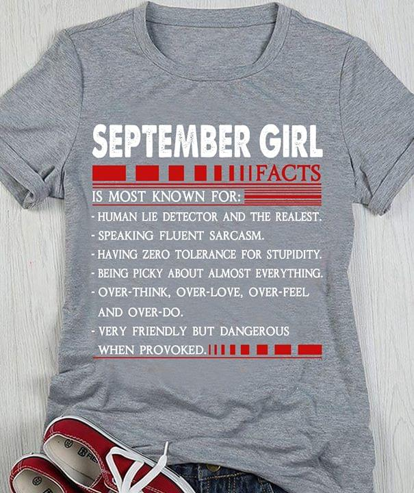 September Girl Facts Is Most Known For Human Lie Detector The Realest cotton t-shirt Hoodie Mug