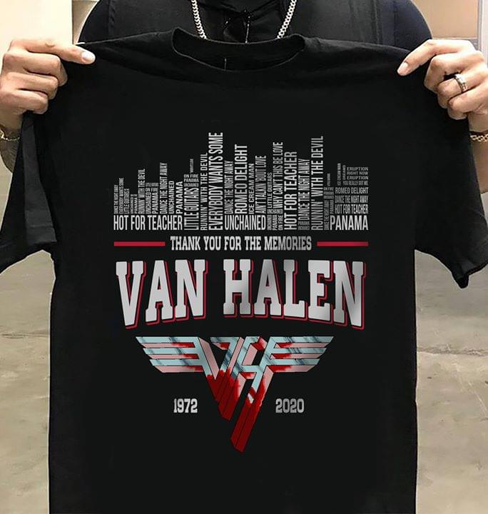 Van Halen Thank You For Memories Legend Band Song Names City For Fan cotton t-shirt Hoodie Mug