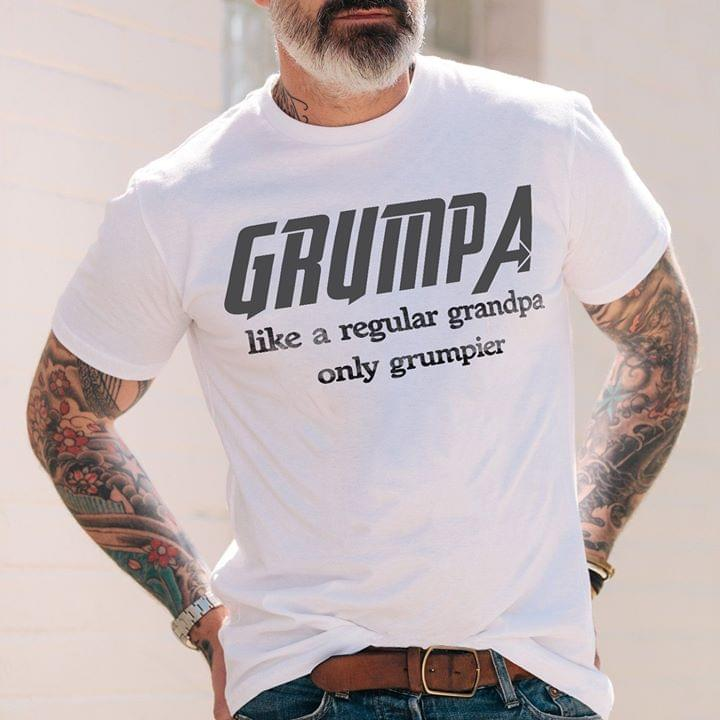 Grumpa Like Regular Grandpa Only Grumpier Grandfather Avengers Marvel cotton t-shirt Hoodie Mug
