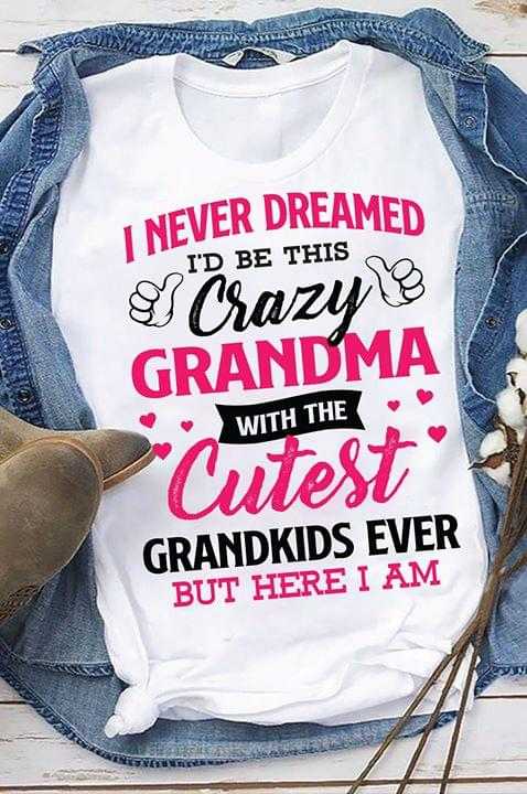 I Never Dreamed Id Be This Crazy Grandma With The Cutest Grandkids Ever Family Gifts cotton t-shirt Hoodie Mug