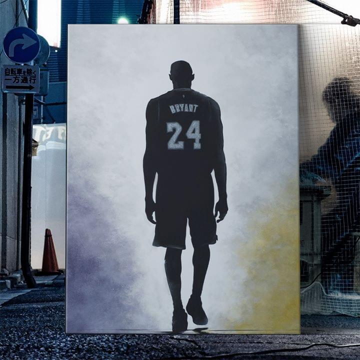 Kobe Bryant 24 Legend Memorial For Fan poster canvas