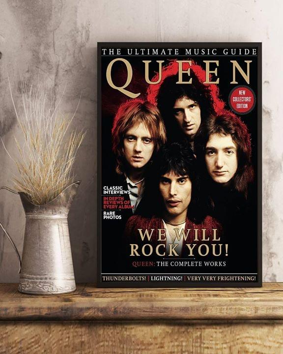 Queen The Ultimate Music Guide We Will Rock You Poster poster canvas
