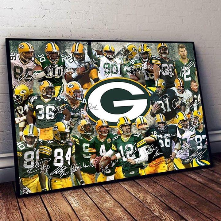 Green Bay Packers Legend Players Signed For Fan Poster poster canvas