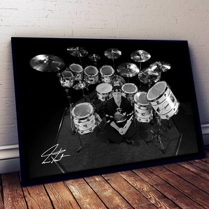 Neil Peart And His Drum Legend Drummer Signed Poster poster canvas