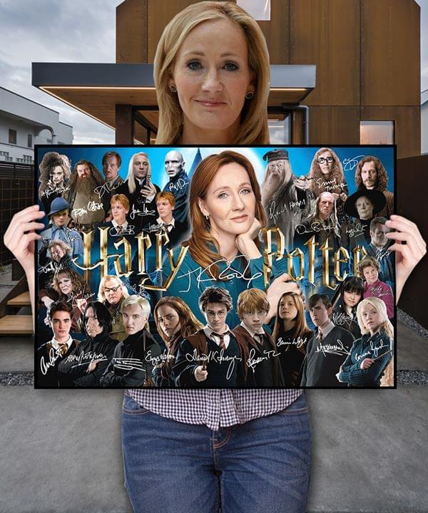 Harry Potter Movie Author And Characters Signatures For Fan Poster poster canvas