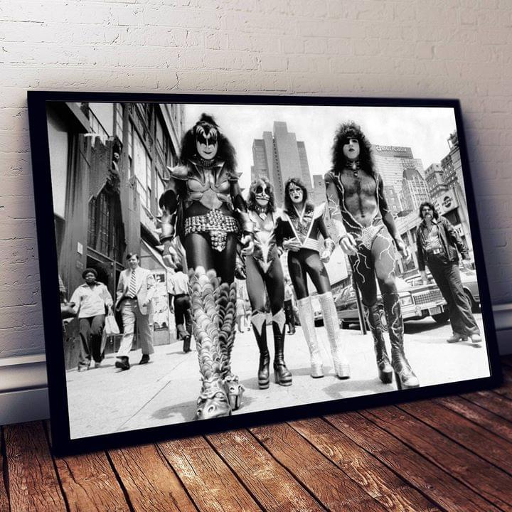 Kiss New York Rock Band Limited Edition For Fan Poster poster canvas
