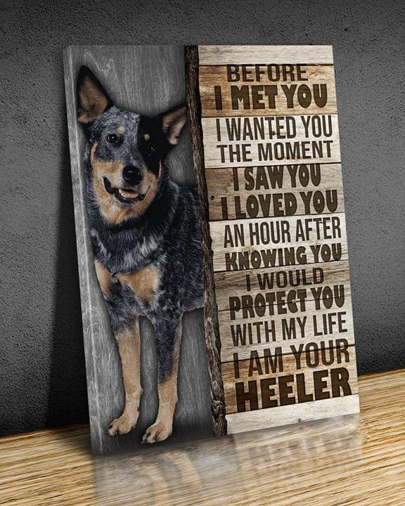 Before I Met You I Wanted You The Moment I Saw You I Loved You I Am Your Heeler For Dog Lover Poster poster canvas