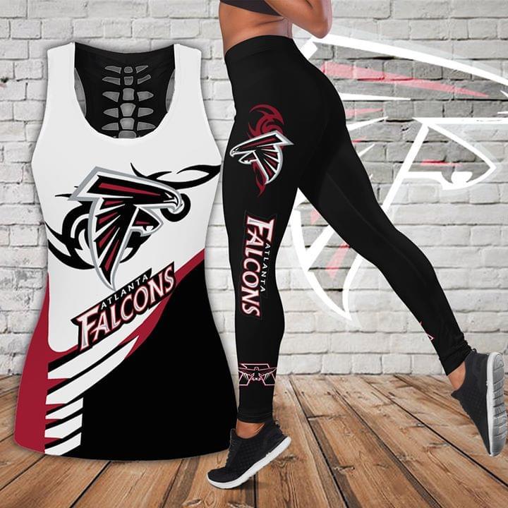 Atlanta Falcons Logo 3d Print Tanktop Legging Set