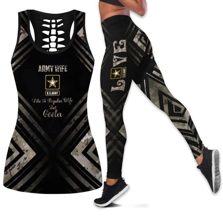 Army Wife Like Regular Wife But Cooler Love 3d Print Tanktop Legging