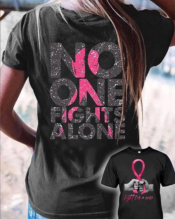 No One Fights Alone Glitter T Shirt cotton t-shirt Hoodie Mug
