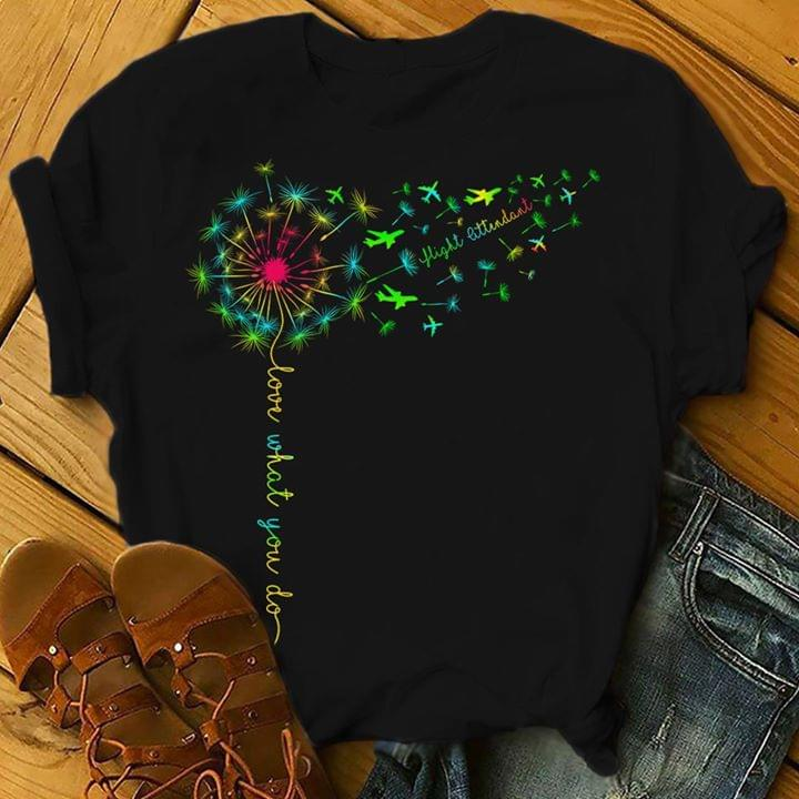 Rainbow Dandelion Flight Ettudant Love What You Do Graphic Design T Shirt cotton t-shirt Hoodie Mug