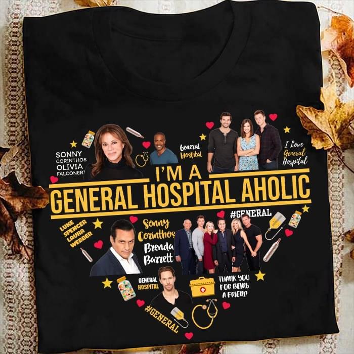 Im A General Hospital Aholic Heart T Shirt cotton t-shirt Hoodie Mug