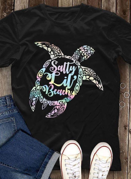 Official Sally Lil Beach Turtle T Shirt cotton t-shirt Hoodie Mug