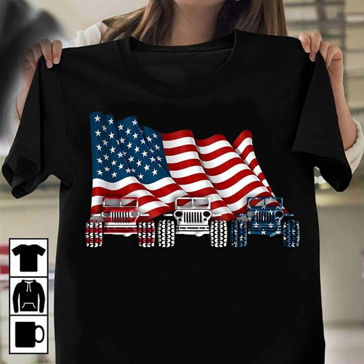 American Grille Retro Car And American Fag On Background T Shirt cotton t-shirt Hoodie Mug