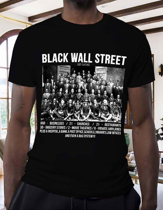 Black Wall Street Tulsa Oklahoma American History T Shirt cotton t-shirt Hoodie Mug