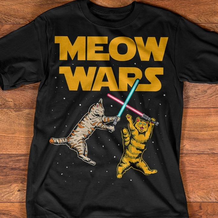 Meow Wars Not Star Wars For Cat Lover Funny T Shirt cotton t-shirt Hoodie Mug