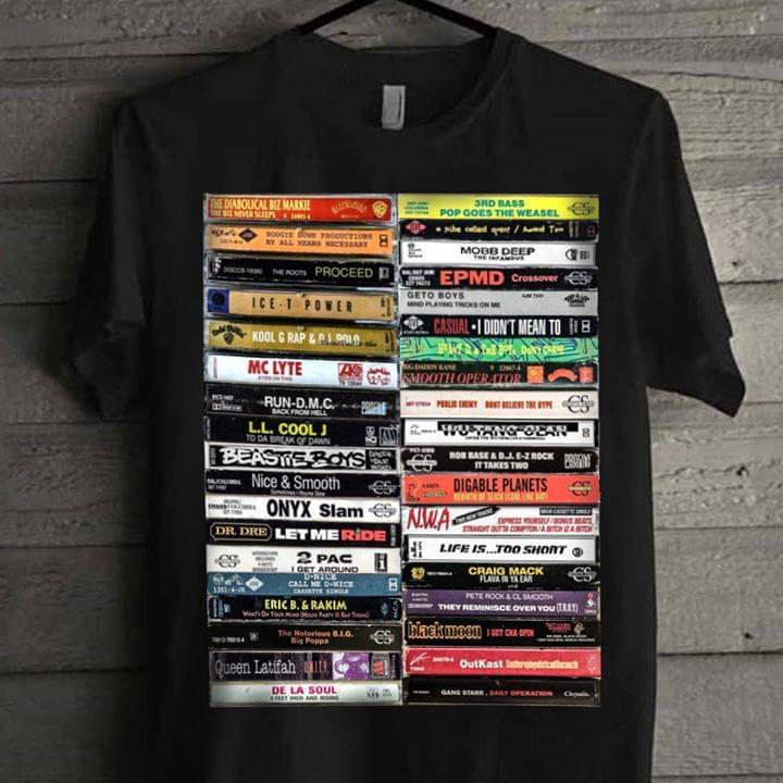 Official Hip Hop Cassette Tapes Classic Jazz Rock Alternative Rap Hip Hop Pop Rnb T Shirt cotton t-shirt Hoodie Mug