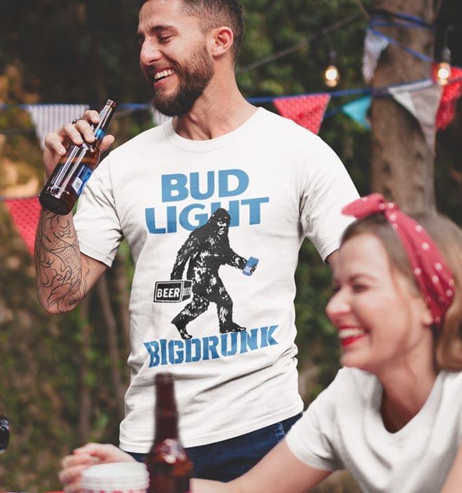 Bud Light Bigdrrunk T Shirt cotton t-shirt Hoodie Mug