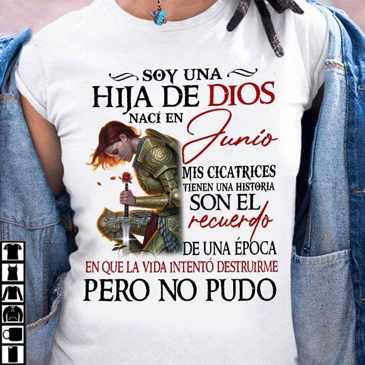 Soy Una Huja De Dios Junio Naci En Mis Cicatrices T Shirt cotton t-shirt Hoodie Mug