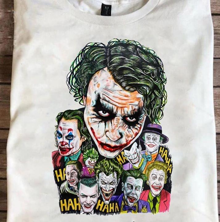Joaquin Phoenix Joker Emotion Funny Haha T Shirt cotton t-shirt Hoodie Mug