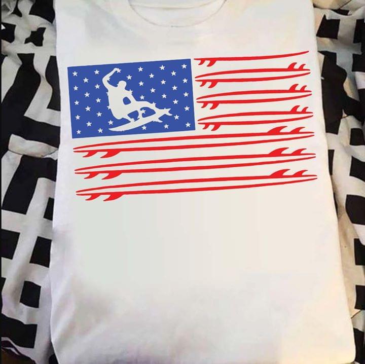 Skateboarding American Flag Veteran 4th Of July Independence Day T Shirt cotton t-shirt Hoodie Mug