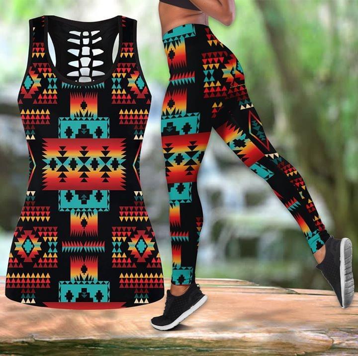 Black Native Tribe Pattern 3d Print Tanktop Legging 3d shirt hoodie sweatshirt