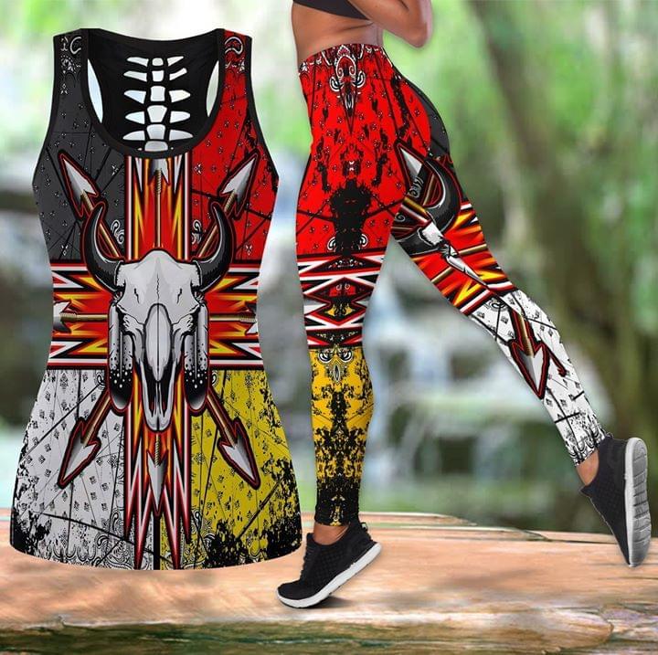 Bison Arrow Native America Pattern 3d Print Tanktop Legging 3d shirt hoodie sweatshirt