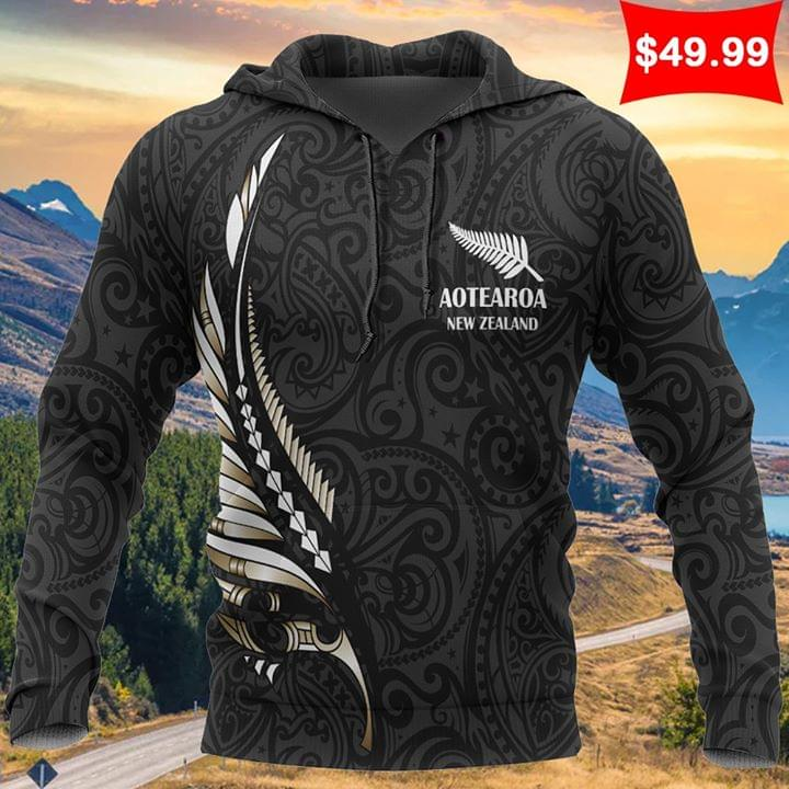 Aotearoa New Zealand Maori Fern Tattoo Design 3d shirt hoodie sweatshirt
