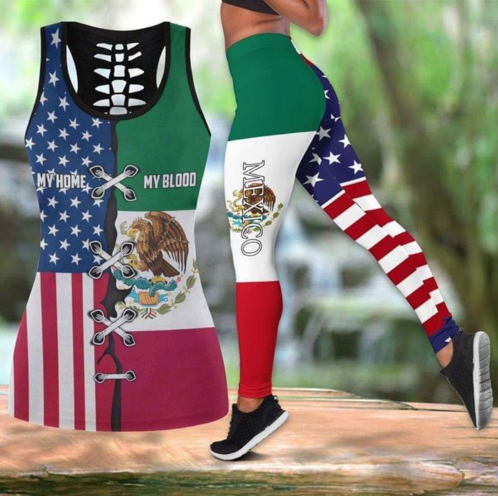 America Is My Home Mexico Is My Blood Hometown Flags Combination All Over Printed 3d 3d shirt hoodie sweatshirt
