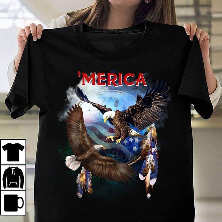 Usa Flag Merica Eagle cotton t-shirt Hoodie Mug