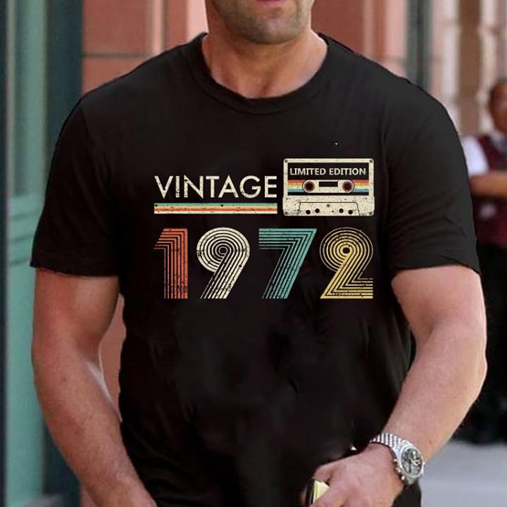 Vintage Limited Edition 1972 Cassette Tape cotton t-shirt Hoodie Mug
