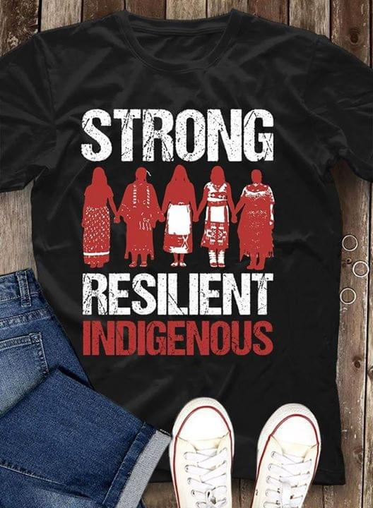 Native American Women Strong Resilient Indigenous cotton t-shirt Hoodie Mug