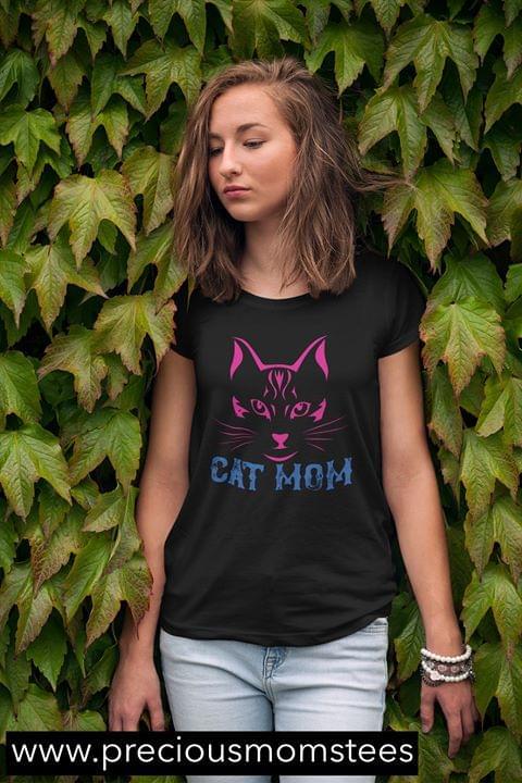 Cat Mom For Cats Lovers Cataholic cotton t-shirt Hoodie Mug