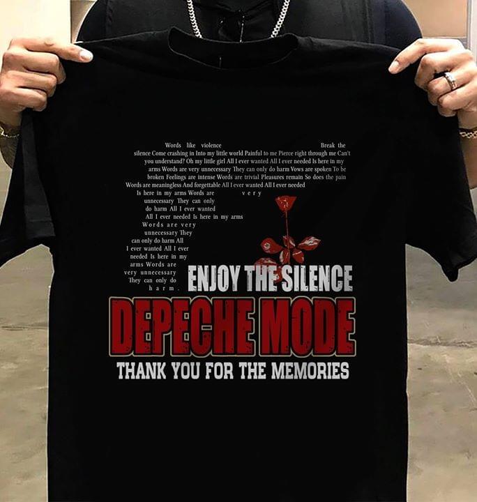 Depeche Mode Enjoy The Silence Song Lyrics Gun Shaped Memories For Music Fan cotton t-shirt Hoodie Mug