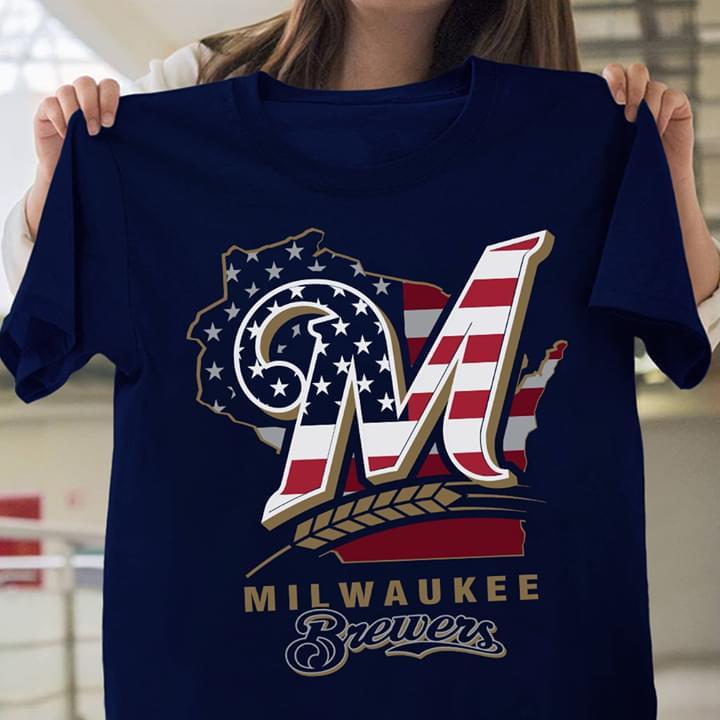 Milwaukee Brewers Wisconsin State Map cotton t-shirt Hoodie Mug