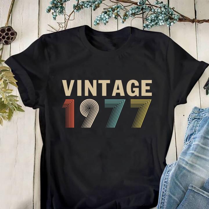 Vintage 1977 For Lovers cotton t-shirt Hoodie Mug