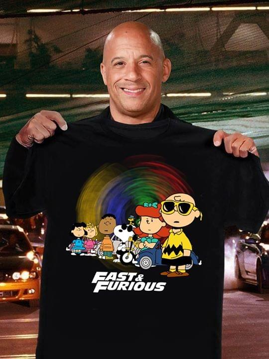 Fast And Furious The Peanuts Movie Snoopy And Friends For Fan cotton t-shirt Hoodie Mug