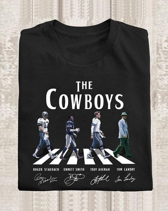 The Dallas Cowboys Legend Abbey The Road Roger Emmitee Troy Tom Signed For Fan cotton t-shirt Hoodie Mug