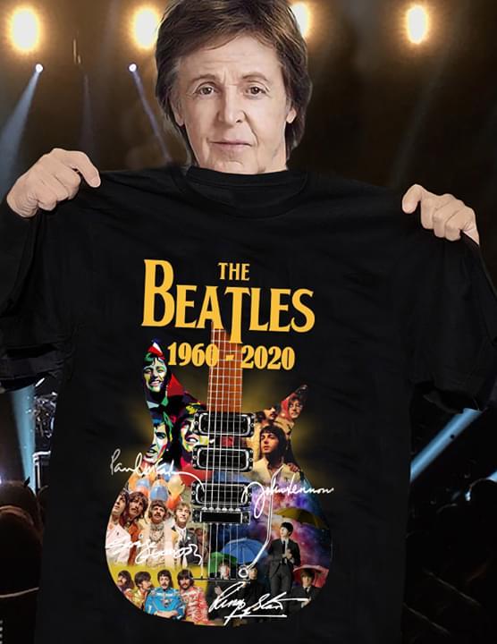 The Beatles Guitar Legend Album All Members Signed For Fan cotton t-shirt Hoodie Mug