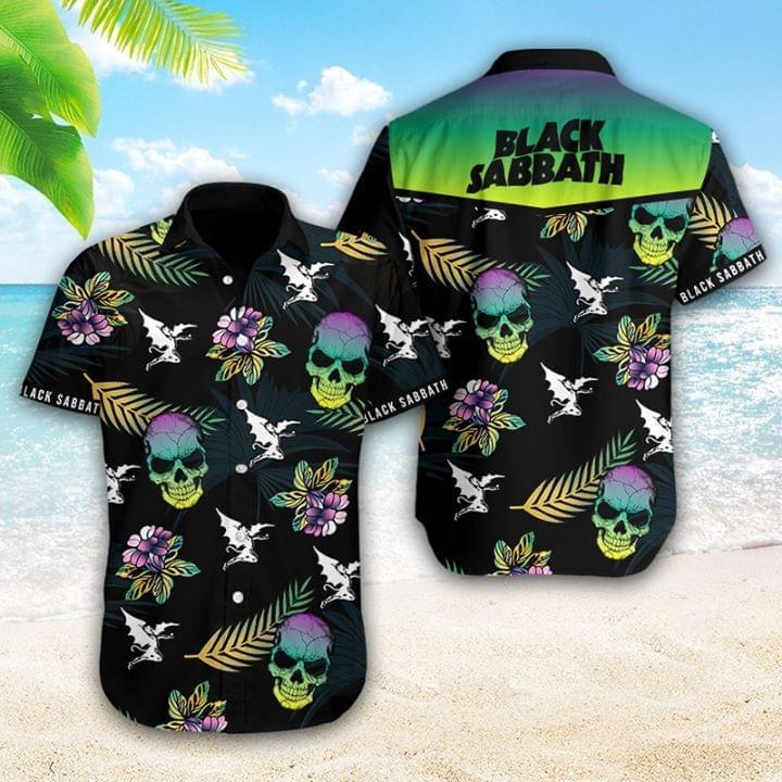 Black Sabbath Rock Band Logo Hawaii Style Skull For Fan 3d shirt hoodie sweatshirt