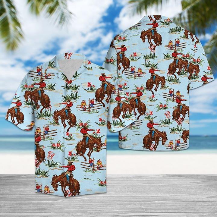 Awesome Cowboy Hawaii Style 3d Full Print 3d shirt hoodie sweatshirt