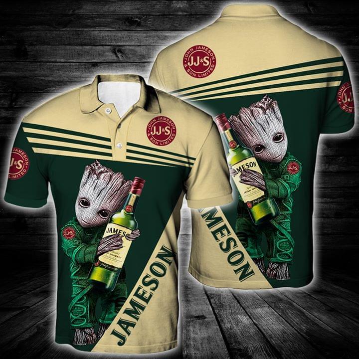 Baby Groot Hug Jameson Irish Whiskey Logo All Over Printed 3d For Beer Lovers 3d shirt hoodie sweatshirt