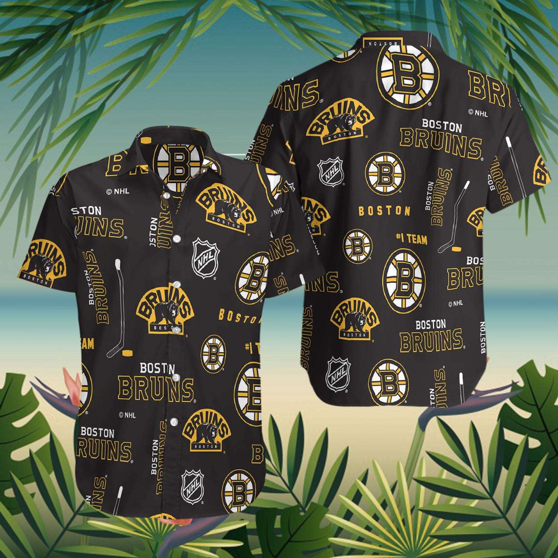 Boston Bruins hawaiian shirt