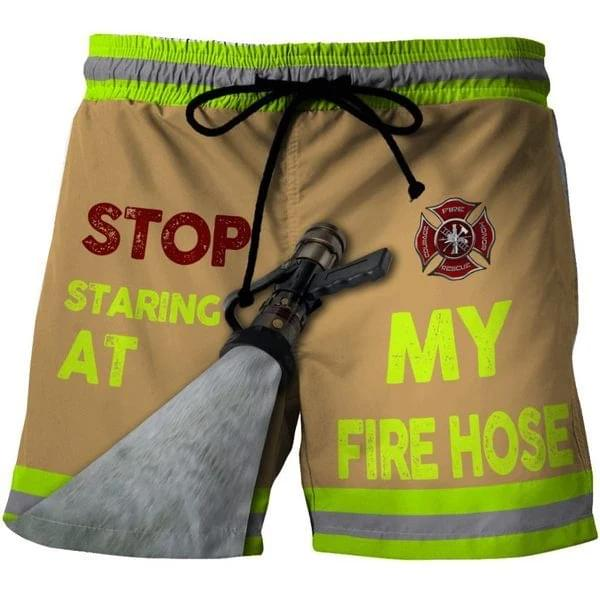 Firefighter Stop Staring At My Fire Hose For Lovers 3d shirt hoodie sweatshirt