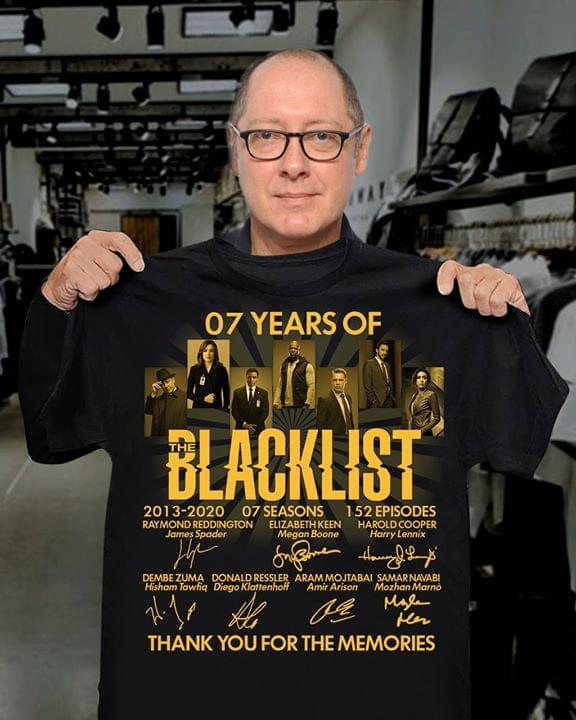 07 Years Of Blacklist Casts Signatures For Fan cotton t-shirt Hoodie Mug